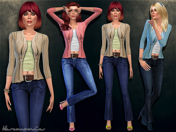 Sims 4 Fashionable Outfit 03 by Harmonia at TSR