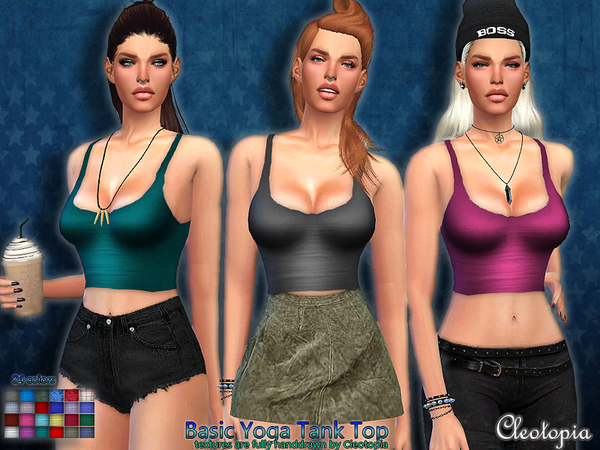 Basic Yoga Tank by Cleotopia at TSR image 1626 Sims 4 Updates