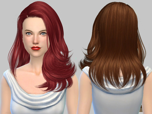 Sims 4 Hair 221 Monik by Skysims at TSR