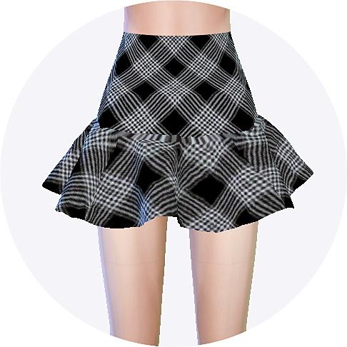 Trumpet Mini Skirt pattern at Marigold » Sims 4 Updates