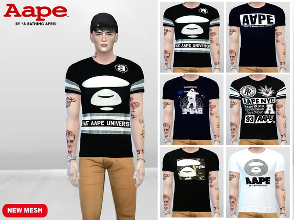Sims 4 Graphic Tees by McLayneSims at TSR