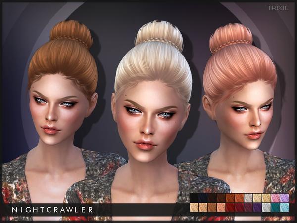 Sims 4 Trixie hair by Nightcrawler at TSR