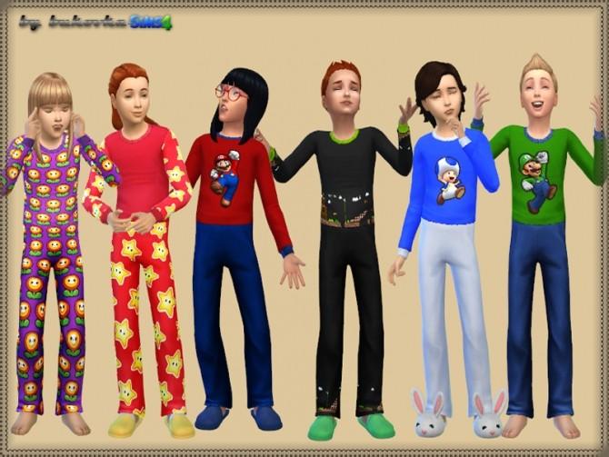 Sims 4 Sleepwear Super Mario at Bukovka