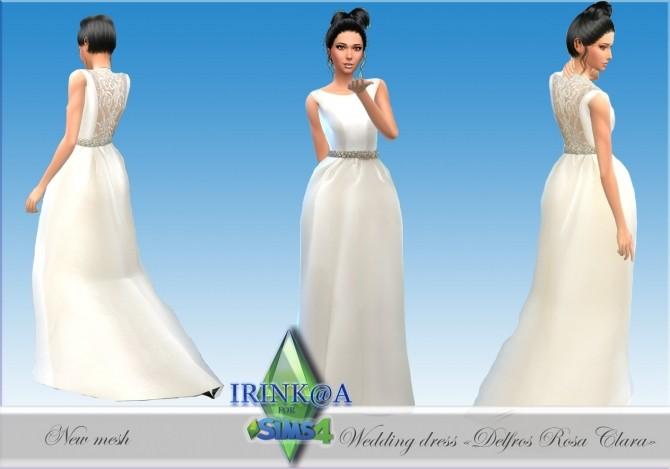 Sims 4 Delfos Rosa Clara wedding dress at Irink@a