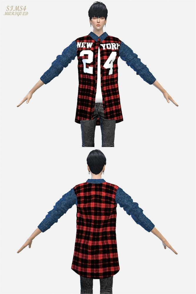 24 checked shirt at Marigold image 1702 667x1000 Sims 4 Updates