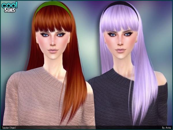 Sims 4 Taylor hair by Anto at TSR