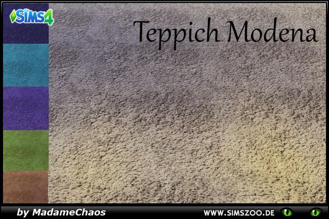 Sims 4 Modena carpet by MadameChaos at Blacky's Sims Zoo