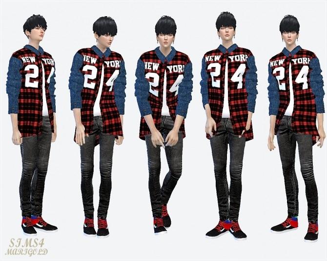 24 checked shirt at Marigold image 1732 670x534 Sims 4 Updates