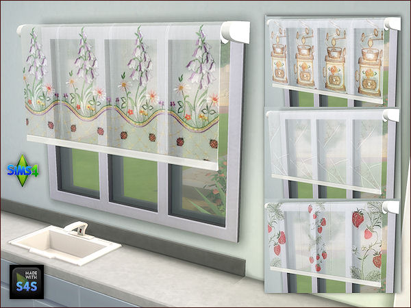 Sims 4 3 sets with 4 blinds by Mabra at Arte Della Vita