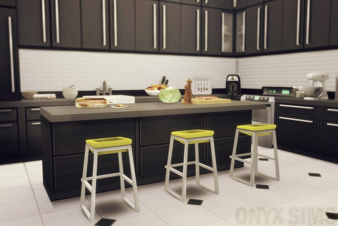 Sit And Dip Bar Stool At Onyx Sims 187 Sims 4 Updates