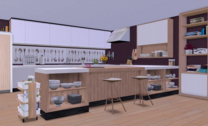 Sims 4 Firence kitchen at pqSims4
