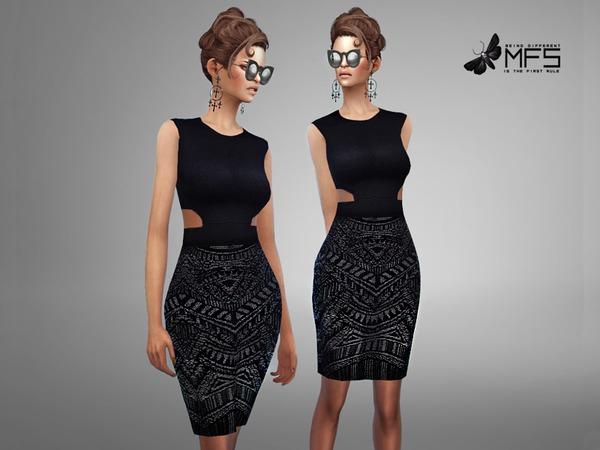Sims 4 MFS Joyce Dress by MissFortune at TSR