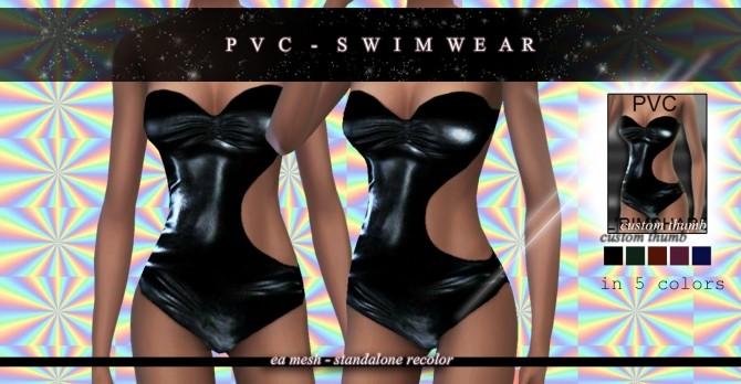 Sims 4 PVC Swimsuit Standalone Recolor at Rimshard Shop