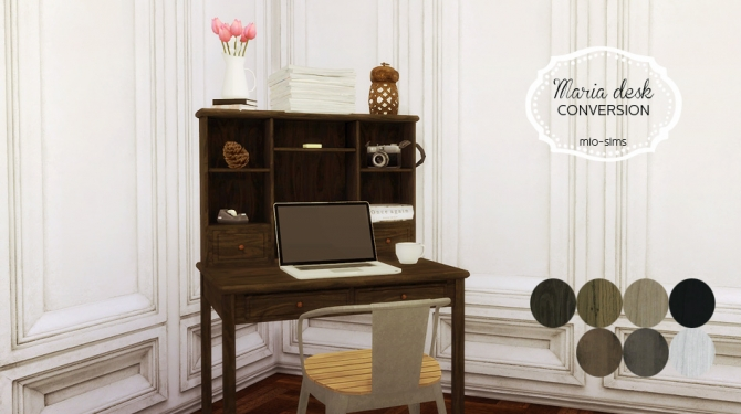Maria Desk Conversion At Mio 187 Sims 4 Updates