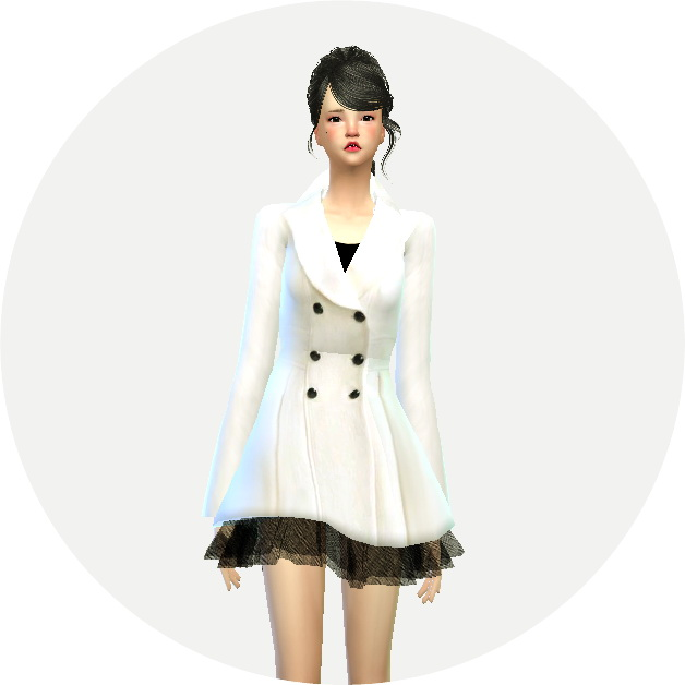 Winter Coat With Skirt At Marigold 187 Sims 4 Updates