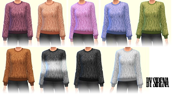 Sims 4 Fur sweater by Sirena at Ladesire