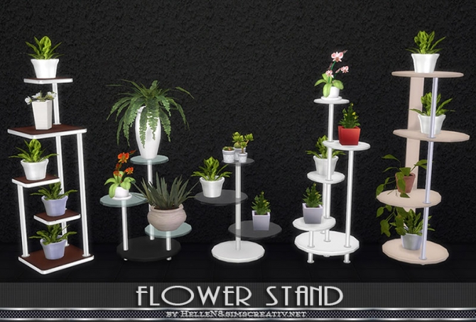 flower stand by hellen at sims creativ sims 4 updates. Black Bedroom Furniture Sets. Home Design Ideas