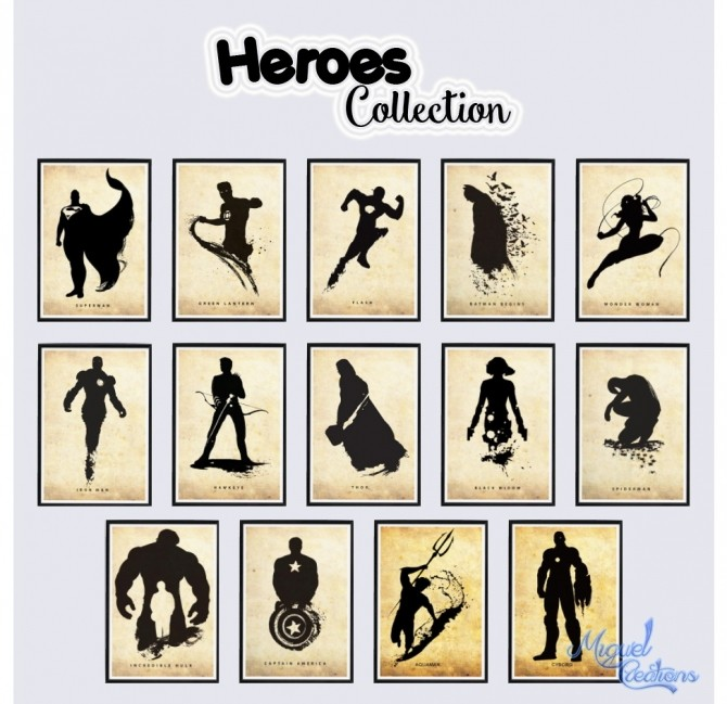 Heroes Collection posters at Victor Miguel image 1954 670x649 Sims 4 Updates