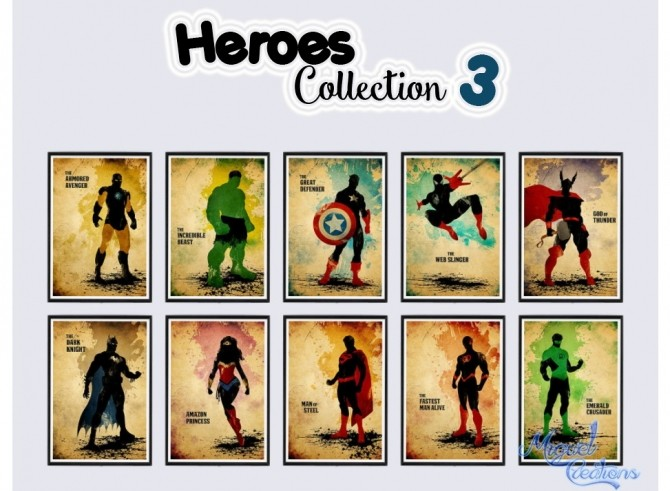Heroes Collection posters at Victor Miguel image 1974 670x491 Sims 4 Updates