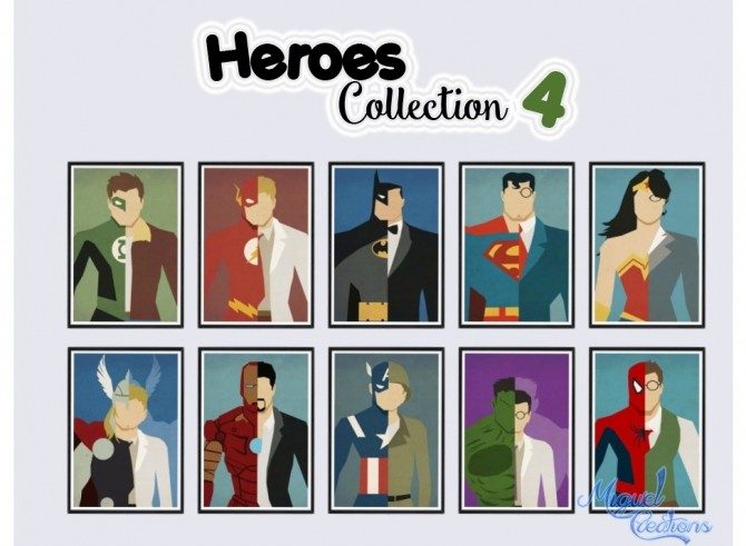 Heroes Collection posters at Victor Miguel image 1983 670x491 Sims 4 Updates