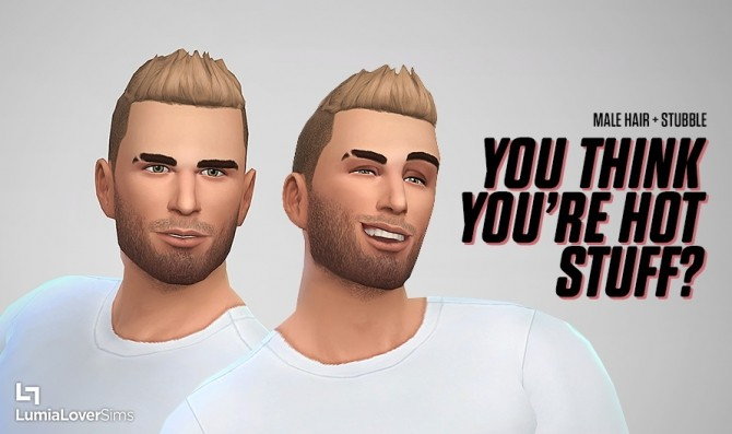 Short hair + stubble at LumiaLover Sims image 2012 670x397 Sims 4 Updates