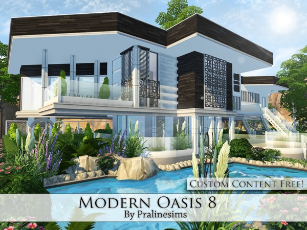 Modern Oasis 8 house by Pralinesims at TSR image 2027 Sims 4 Updates