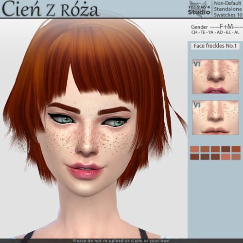 Sims 4 Face freckles No.1 at Cień z róża