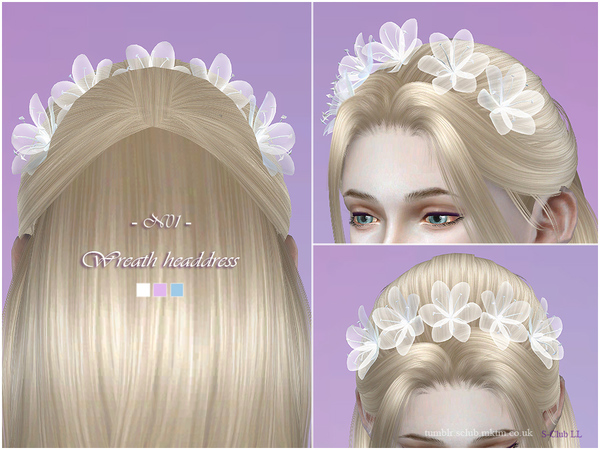 Wreath headdress 01 by S Club LL at TSR image 2106 Sims 4 Updates