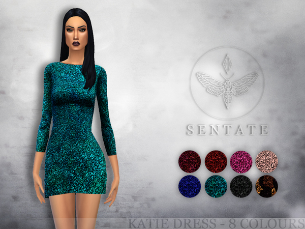 Sims 4 Katie Dress by Sentate at TSR