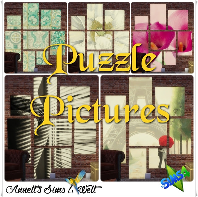 Puzzle Pictures at Annett's Sims 4 Welt image 21111 Sims 4 Updates