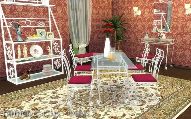 Paris Diningroom By Hellen At Sims Creativ Sims 4 Updates