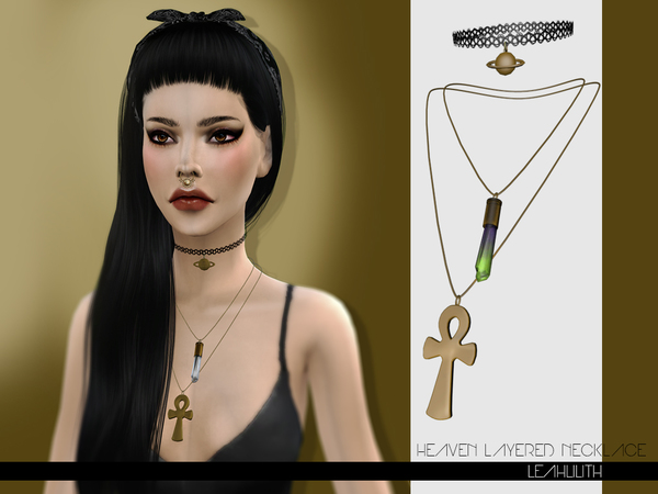 Sims 4 Heaven Layered Necklace by LeahLilith at TSR