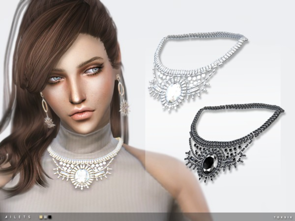 Ailets Necklace by toksik at TSR image 2210 Sims 4 Updates