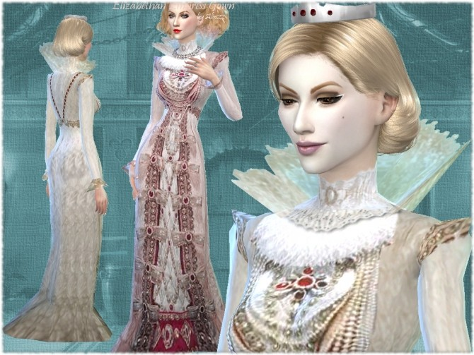 Sims 4 Elizabethan Times Empress Gown at Mythical Sims