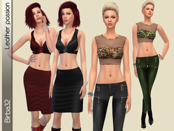 Leather Passion by Birba32 at TSR image 2223 Sims 4 Updates