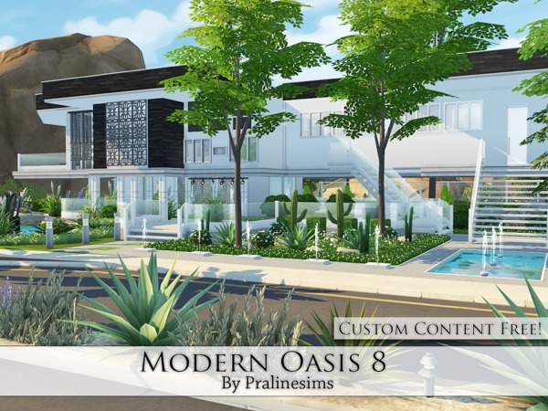Modern Oasis 8 house by Pralinesims at TSR image 2224 Sims 4 Updates