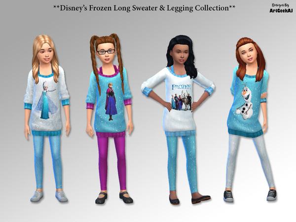 Sims 4 Long Sweater & Leggings Set by ArtGeekAJ at TSR