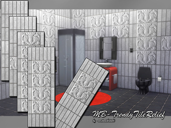 MB Trendy Tile Relief by matomibotaki at TSR image 2229 Sims 4 Updates