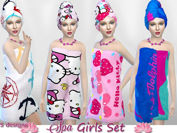 Sims 4 Girls Day at the SPA set by Pinkzombiecupcakes at TSR
