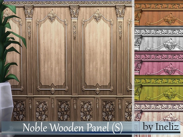 Sims 4 Noble Wooden Panel (S) by Ineliz at TSR