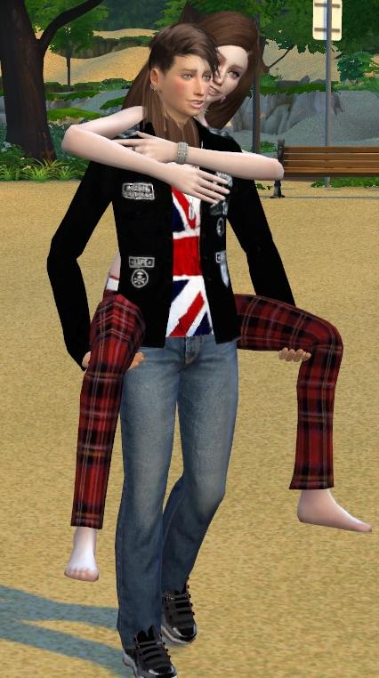 Sims 4 Romantic Walk Pose at Chaleara´s Sims 4 Poses