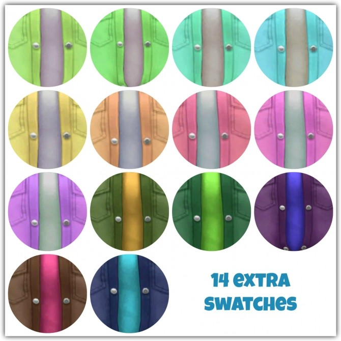 Sims 4 Button Up Tops Recolors at Maimouth Sims4