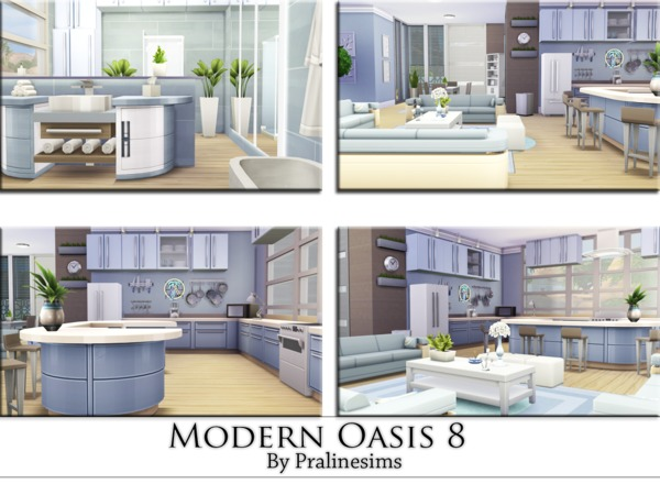 Modern Oasis 8 house by Pralinesims at TSR image 2325 Sims 4 Updates