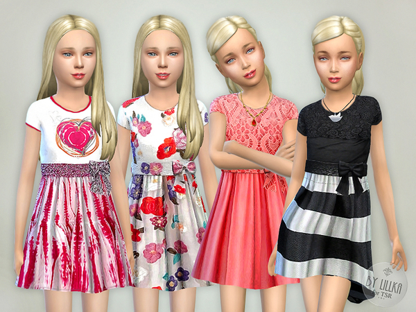 Designer Dresses Collection P08 by Lillka at TSR image 2348 Sims 4 Updates
