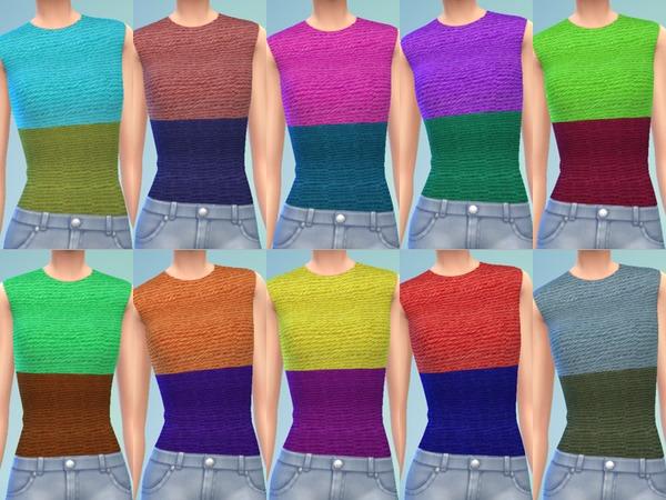 Crochet Colorblock Tops by Simlark at TSR image 2350 Sims 4 Updates
