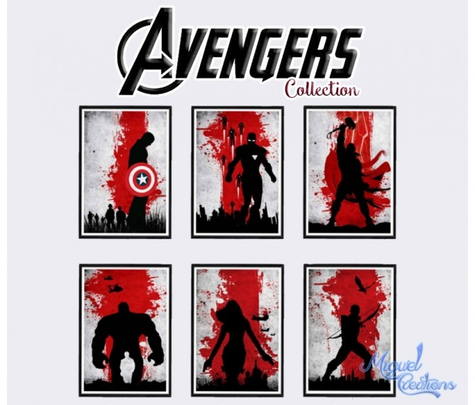 Sims 4 Avengers posters at Victor Miguel