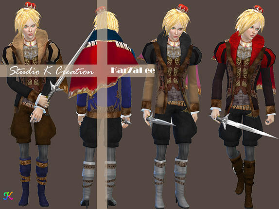 Medieval Edge My Lord Outfit At Studio K Creation 187 Sims 4