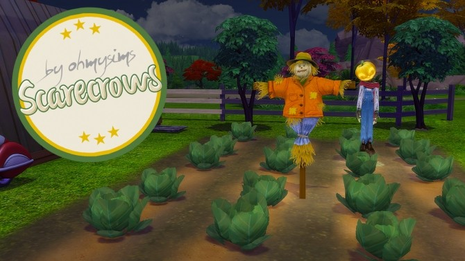 Sims 4 Scarecrows at Oh My Sims 4