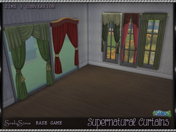 Supernatural Curtains at SrslySims image 2481 670x503 Sims 4 Updates