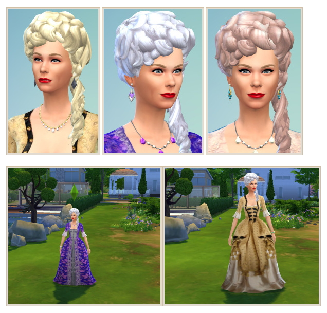 Sims 4 Kirsten Dunst as Marie Antoinette + Hairstyle at Birksches Sims Blog